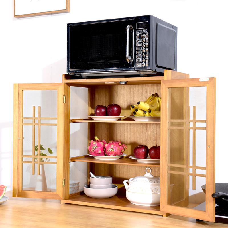 厨房挂式放碗柜餐边柜实木碗柜碗筷储存柜透气蔬菜柜实木碗橱柜