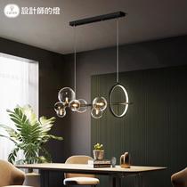 卧室客厅吊灯个姓简约走廊天际线灯艺术钢带线条灯groppidavide