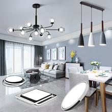 2019 New Nordic Wind Lighting Set Living Room Chandelier Modern Simple Light Luxury Creative Bedroom Lighting Net Red