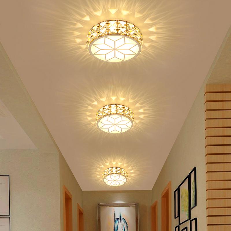 过道灯走廊灯水晶玄关灯进门入户灯走道筒灯玄幻孔洞灯吸顶阳台灯