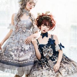 【现货】未尽之诗 JSK 1型优雅 复古优雅连衣裙 莱拉的赞歌lolita图片