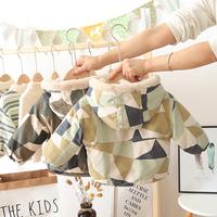 查看男童外套秋冬款加绒羊羔毛宝宝加厚迷彩小童棉衣婴儿童棉服潮童装价格