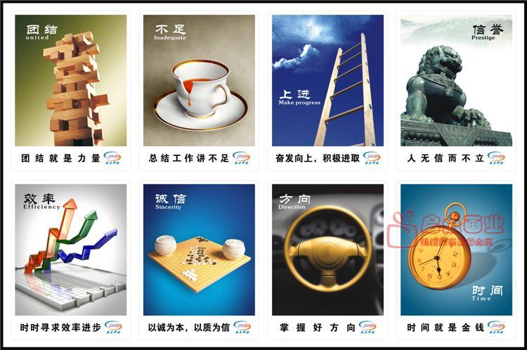 金融银行业公司企业文化宣传画培训场所电教室装饰画无框楼梯挂画