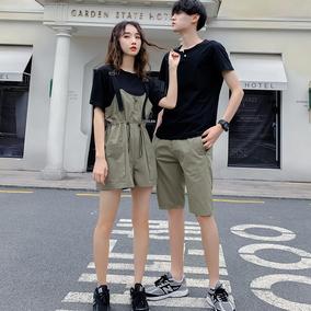 情侣装夏装2020新款ins短袖男裙子