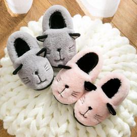 儿童居家棉拖鞋男童女童软底防滑保暖棉鞋宝宝小孩包跟室内拖鞋冬