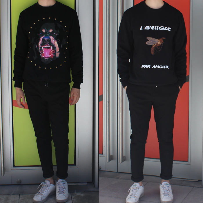 Autumn / winter 16 new package mail diamond dog head printing three dimensional embroidery honeybee Plush Pullover knitted sweater for men