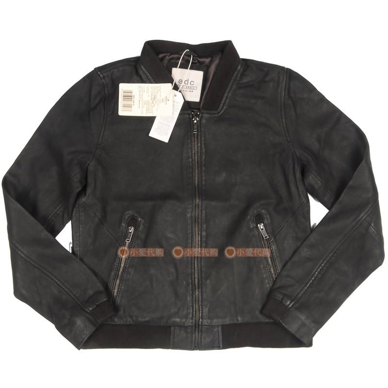 ESPRIT埃斯普利特女款羊皮衣097CC1G031-001专柜正品软皮夹克外套