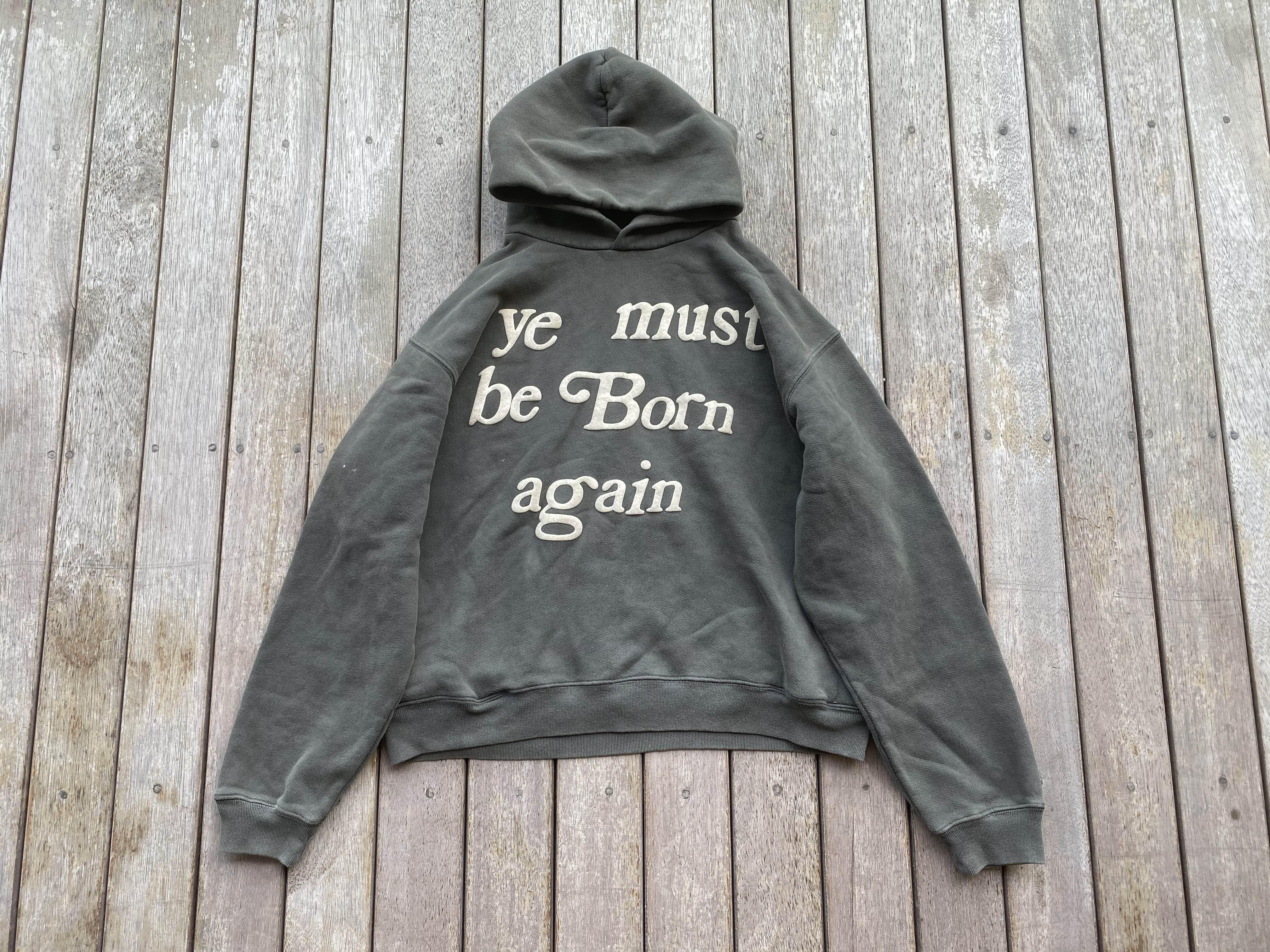 原创BB CPFM Ye Must Be Born Again 菲董 Jerry同款连帽卫衣帽衫