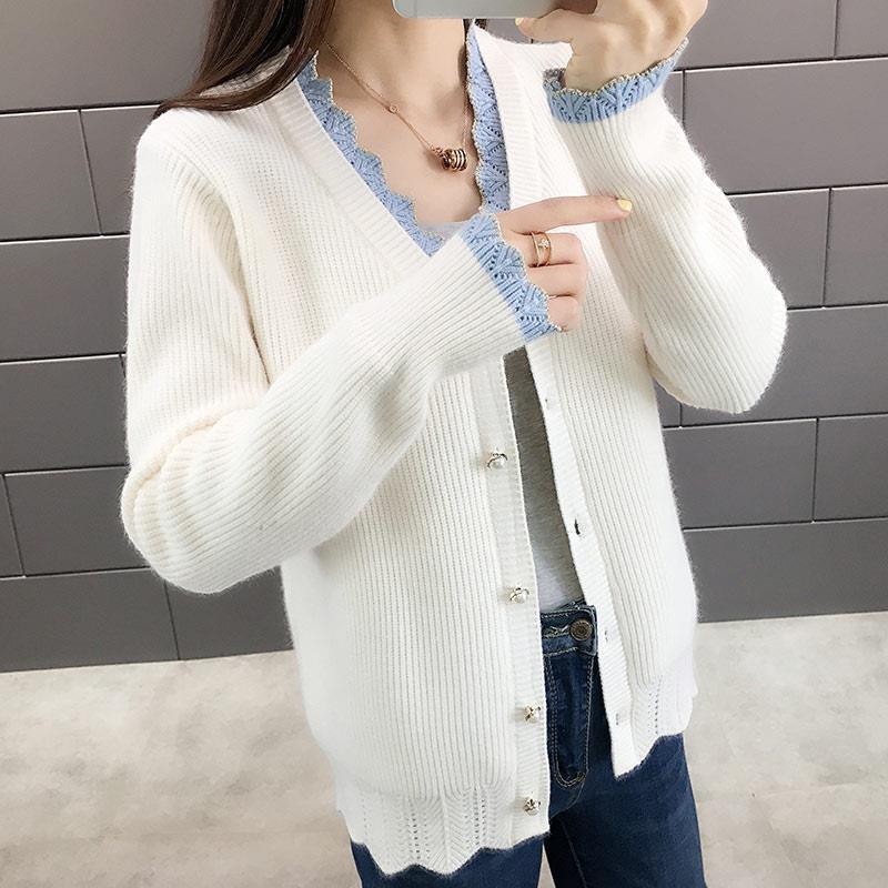 Polka Dot Chiffon dress womens summer 2021 new Korean style slim waist medium length V-neck skirt