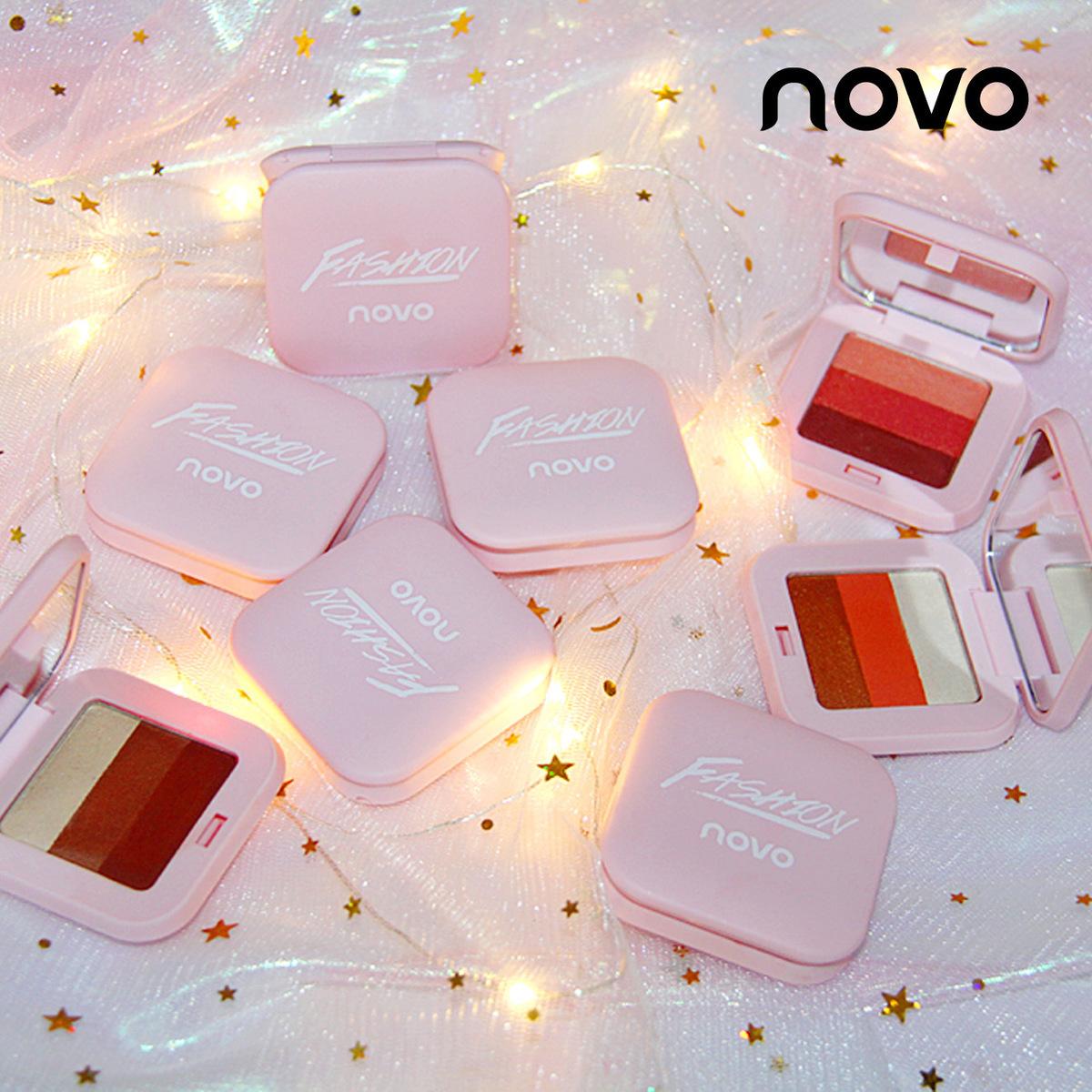 正品NOVO 灵动三色渐变眼影 立体妆容 8种组合色可选女生美妆工具