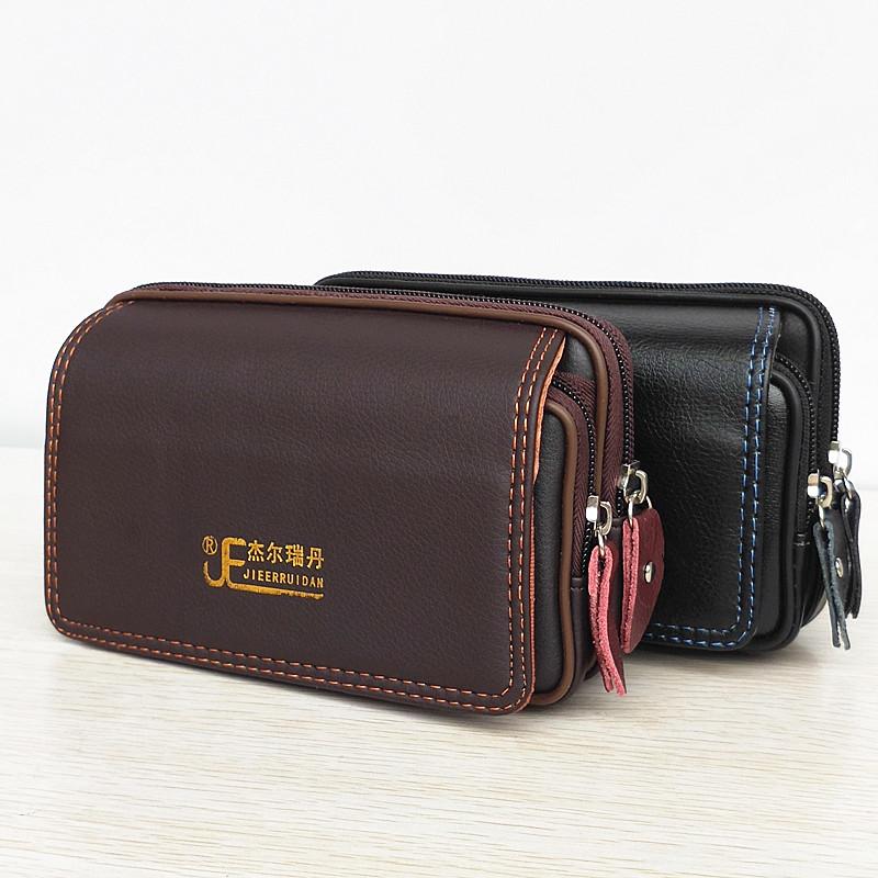手机腰包男6寸6.5寸横款户外通用穿皮带挂腰皮套多功能钱包收纳包