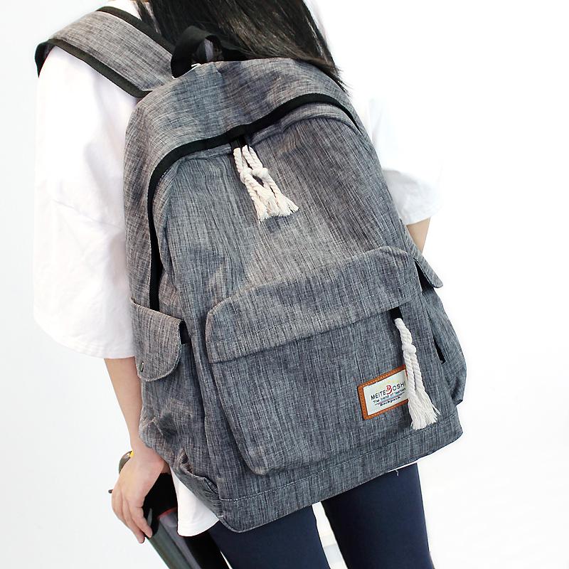 简约双肩包男女韩版中学生书包大容量旅行背包学院风电脑包休闲包券后49.90元