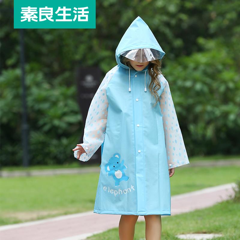 Cartoon e raincoat childrens raincoat kindergarten baby children pupils raincoat boys girls poncho with schoolbag