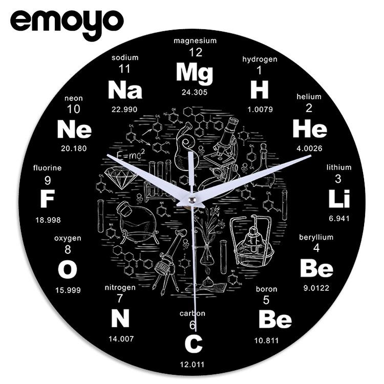 创意亚克力化学公式挂钟 客厅办公室定制石英静音时钟 Изображение 1