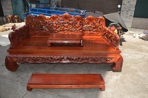 缅甸花梨罗汉床大果紫檀床实木 家俱 床类特价花梨床 贵妃床