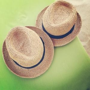 辰辰家 亲子帽草帽沙滩帽遮阳帽编织草帽儿童草编小礼帽