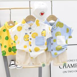 男童夏装套装1一3岁婴儿童休闲宝宝两件套小童夏季薄款短袖衬衣潮