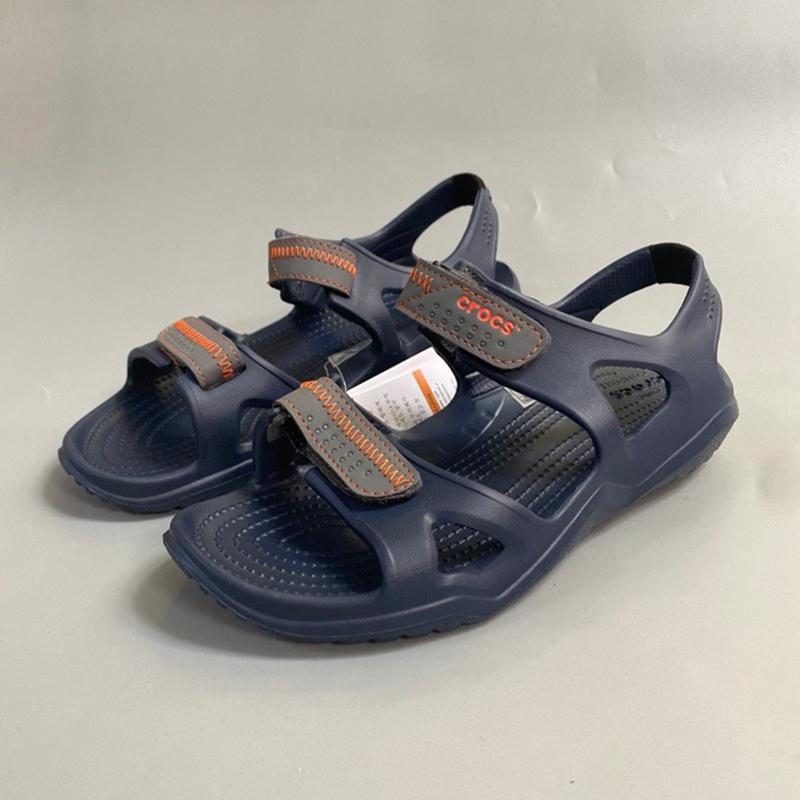 21 summer new injection molding amphibious Velcro adjustment casual outdoor Roman beach light mens cool shoes