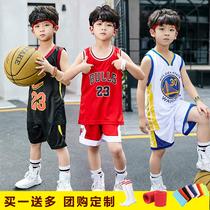 儿童篮球服套装定制幼儿园男童女童宝宝运动服背心个性印字训练服