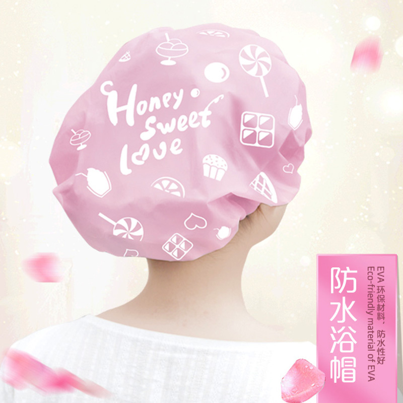 Мультики дети ребенок регулируемый шапочка для душа масло дым кухня сухие волосы, кэп сын водонепроницаемый взрослых женщин ванна купаться головной убор