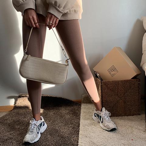NDZkim同款街头风纯色高腰弹力打底裤女外穿显瘦秋冬季保暖紧身裤