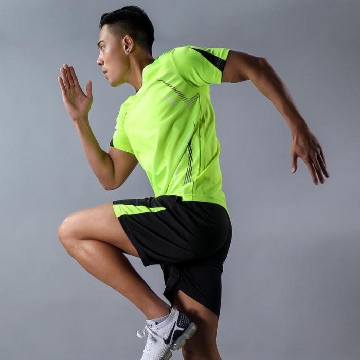 TS3061#运动套装男健身短袖T桖男士跑步速干松休闲运动大码