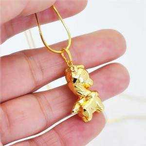 生肖可爱3D小马项坠仿黄金项链吊坠 金色 链长45厘米