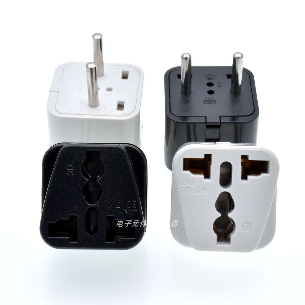 欧式转换插座 欧规转换插头欧标转换插座WD-9A 4.0mm双圆2脚插头