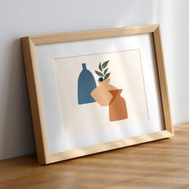 实木相框挂墙A4a3 16寸20寸4开8k画框装裱外框定制任意尺寸拼图框