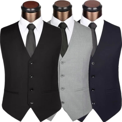 Spring and autumn new style suit waistcoat easy to wear mens suit waistcoat waistcoat