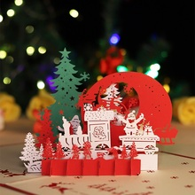 Christmas gift children's creative three-dimensional greeting card gift three-dimensional card DIY hand-made lettering