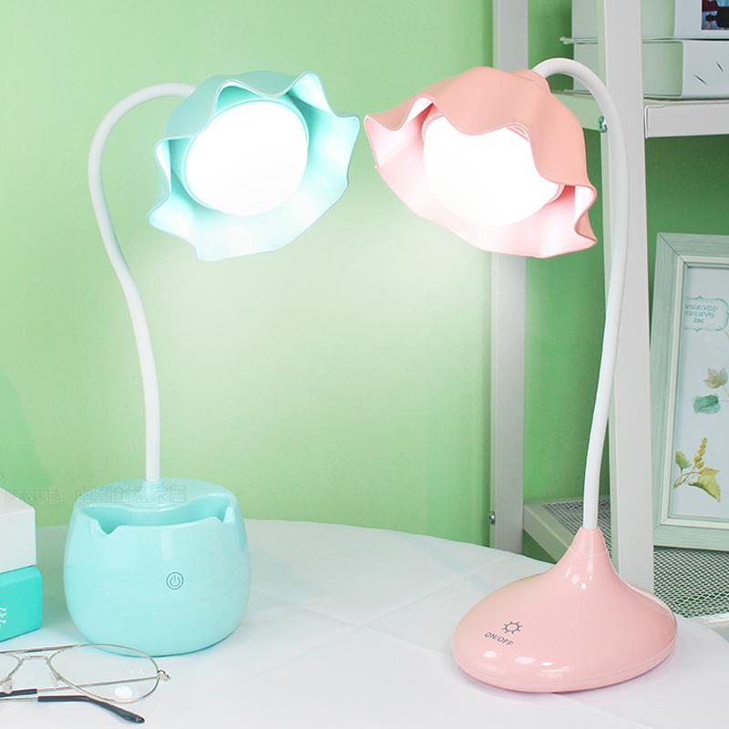 护眼小台灯LED可充电式书桌创意学生宿舍儿童学习保视力触摸调光