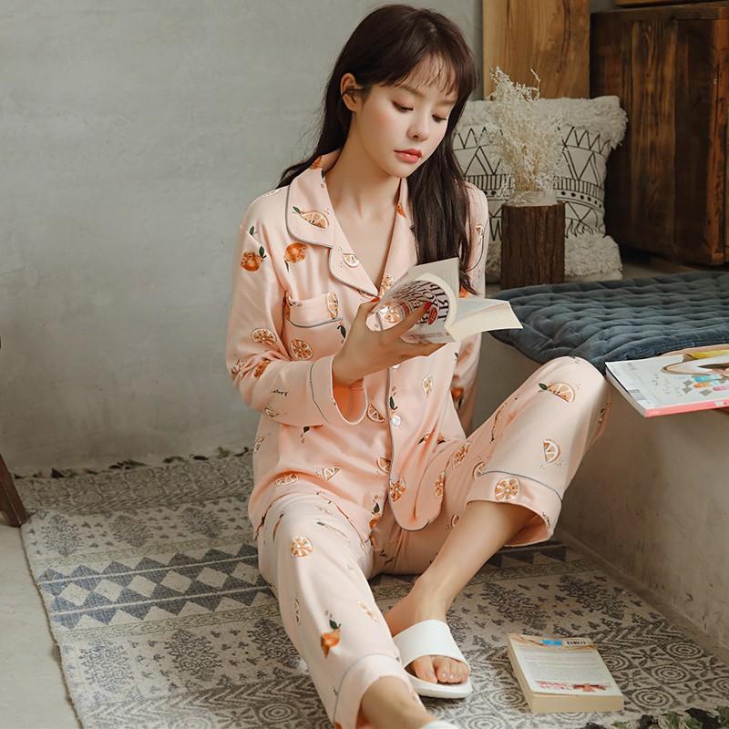 原单卡通睡衣春秋韩版纯棉长袖甜美可爱套装日系少女家居原创设计