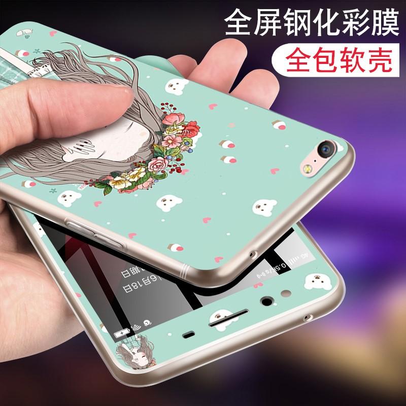 新款苹果6s手机壳和钢化膜套装卡通iphone6保护贴膜彩全屏全包边4