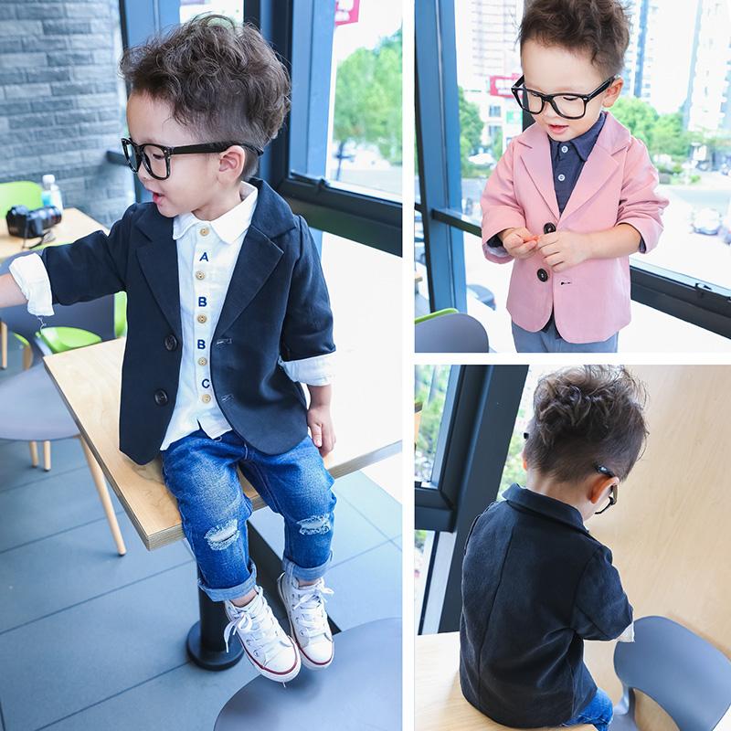 宝宝小西装2-6岁男童外套长袖3小童春秋装5儿童韩版西装4婴幼开衫