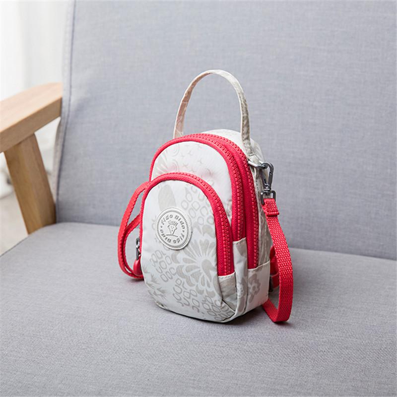 Feidu DIDU fashion large screen mobile phone bag womens leisure Messenger Bag Mini Single Shoulder Bag Small Bag Canvas Handbag tide