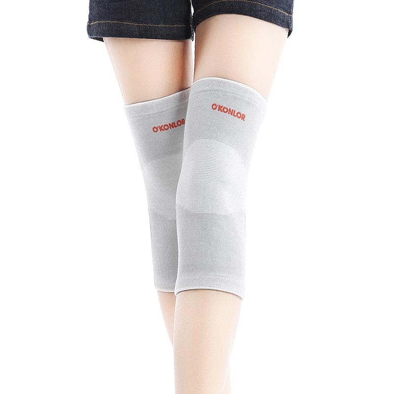 護膝  女士保暖老寒腿超薄透氣男膝蓋關節空調房 竹炭護腿