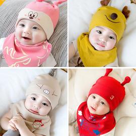 婴儿帽子春秋纯棉0-3个月9男女宝宝胎帽秋冬新生婴幼儿可爱小孩帽
