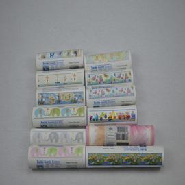进口纯纸壁纸布鲁斯特腰线儿童房卡通小汽车大象小狗蝴蝶墙纸腰线图片