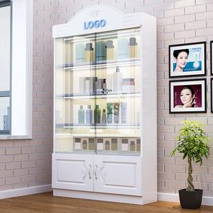展示櫃 玻璃門化妝品商用陳列櫃手辦置物架美容院母嬰店禮品櫃