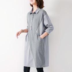 秋装连衣裙女长袖2020年春秋新款中长款宽松休闲衬衫大码气质裙子