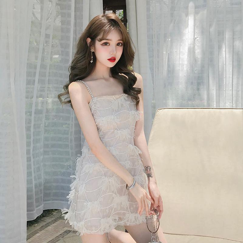 买三送一超仙的链条2019夏季新款韩版吊带裙