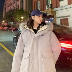中性风 羊羔毛大毛领保暖女韩版棉衣棉服A342-BK65-F148