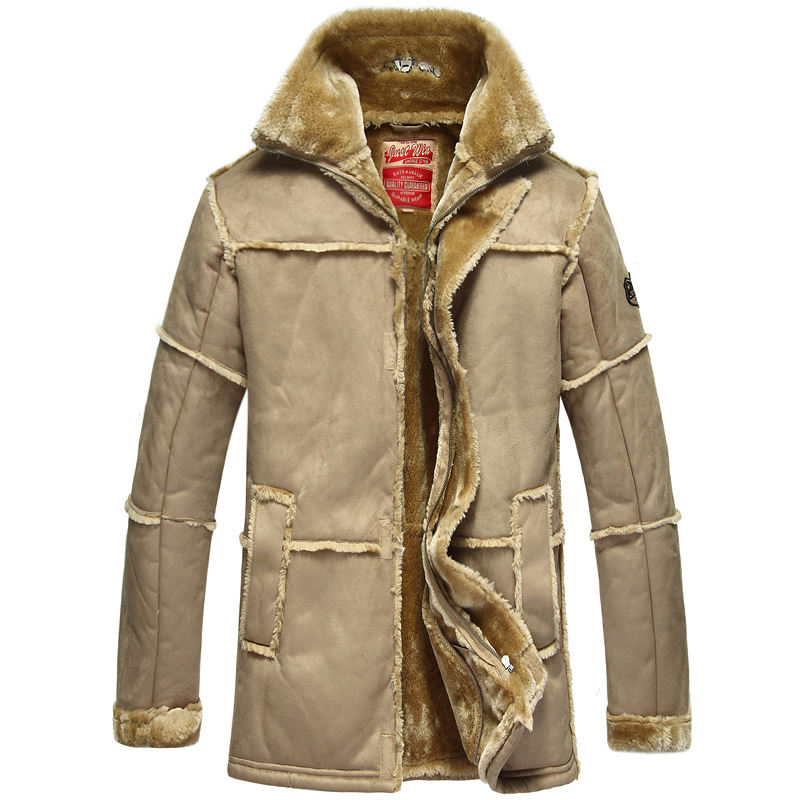 City of hope long leather jacket leather one piece coat leather coat mens thickened casual fur coat