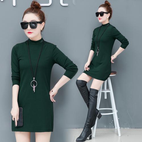 打底衫女长袖内搭半高领t恤2019秋装新款韩版中长款上衣D2868/P65