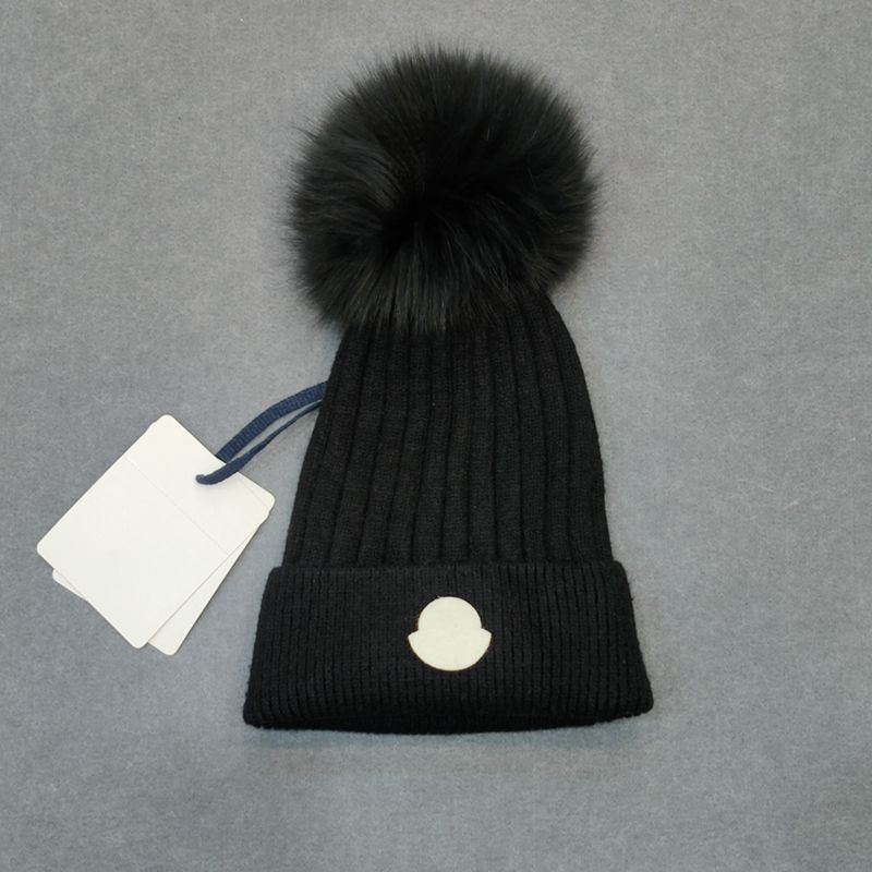 European and American winter New Wool Hat Wool fox hair ball wool knitted hat Ski Hat шапка  Cap