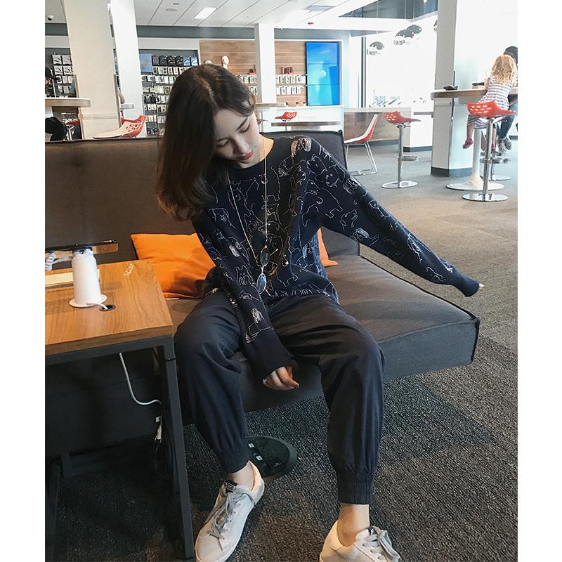 钱夫人CHINSTUDIO原宿风裤子女秋韩版工装裤宽松休闲裤显瘦束脚裤