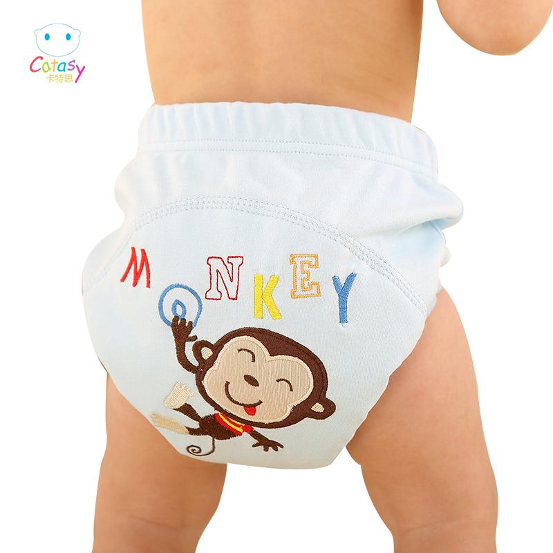 卡特思學習褲寶寶訓練褲純棉隔尿褲兜 防漏防水透氣可洗布尿褲