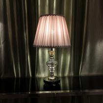 浪漫粉色奢华欧式可调光水晶台灯卧室床头灯简约现代温馨结婚创意