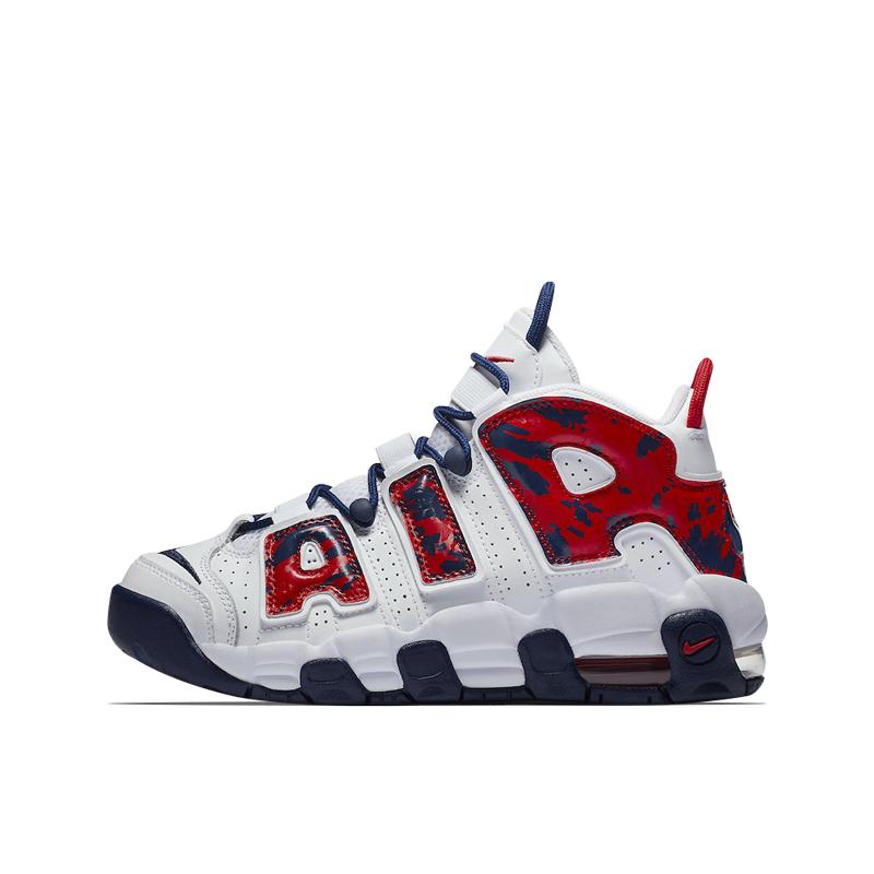 球鞋家 Nike Air More Uptempo 大AIR皮蓬白蓝红蛇纹 CZ7885-100